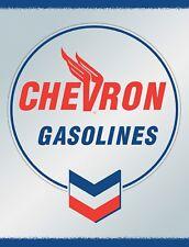 "TIN SIGN ""Chevron Blue""   Gas-Oil   Signs  Rustic Wall Decor"