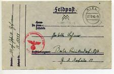 Germany 1940 Cover with Feldpost 17987 – U-boat depot ship Lech