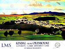 KENDAL CUMBRIA ENGLAND UK LAKE DISTRICT LANDSCAPE VALLEY ART PRINT POSTER BB9901