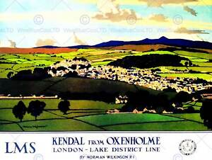 KENDAL CUMBRIA ENGLAND UK LAKE DISTRICT LANDSCAPE VALLEY ART PRINT POSTER BB9901