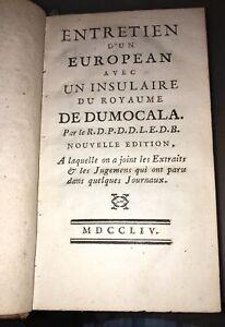 STANISLAS Ier, Entretien d'un European avec un Insulaire . ÉDITION 1754 .