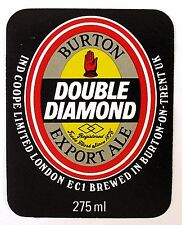 Ind Coop Limited BURTON DOUBLE DIAMOND EXPORT ALE beer label ENGLAND 275ml