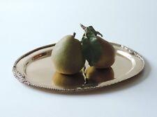 ALTE GROßE PLATTE TABLETT MESSING HANDARBEIT