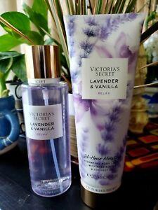 Set Victorias Secret LAVENDER VANILLA Fragrance Mist & Lotion 8.4fl Oz