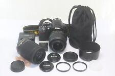 Nikon D3100 14.2MP Digital SLR Camera Black Kit w/ 18-55mm and 55-200mm Lens