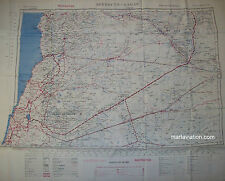 Vintage double face 1950`s royal air force aircrew escape map (129)
