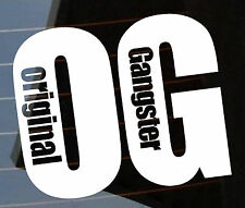 OG Sticker Original hip hop rap Gangster 190x160 mm Vinyl Car Australian made