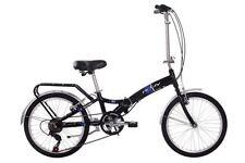 Bicicleta plegable negro