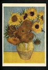 Sunflowers postcard Bouquet in vase Vincent Van Gough England