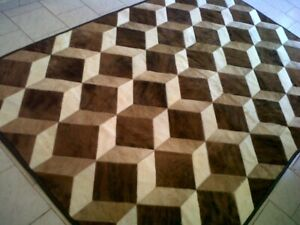 PATCHWORK COWHIDE RUG CARPET AREA LEATHER COW HIDE HAIR ON 3D!!! 6ftx4ft