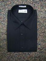 NEW Black Dress Shirt - cotton blend - multiple sizes available