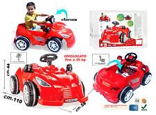 AUTO A PEDALI per bambini GRANDE MACCHINA ROSSA cavalcabile go kart a pedali