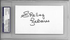 SHELLEY FABARES Signed INDEX CARD Elvis Coach SPINOUT Donna Reed Show TV PSA/DNA