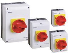 Hauptschalter Gehäuse 3-polig 4-polig 16-20-25-32-40-63-80-100A Neu VDE