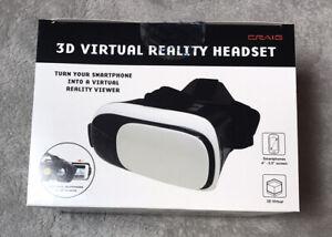 Craig - 3D Virtual Reality Headset White NIB