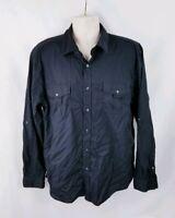 Bruno New York Men's Long Sleeve Dress Shirt Size XL Black