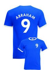 Abraham Chelsea No.9 Mens Football Fan Ringer T-Shirt