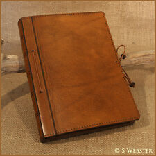 A5 CLASSIC BROWN LEATHER JOURNAL, NOTEBOOK, REMOVABLE PAGE, free personalisation
