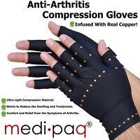 Medipaq® Anti Arthritis Copper Compression Gloves Hand Therapy Rheumatoid Pain