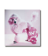 Pink GLITTER Poodle SELFIE Canvas Wall Art Pictures Home Decor Girls Bedroom