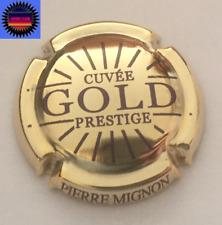 Capsule de Champagne PIERRE MIGNON Prestige Gold Doré a L'or Fin Lettre Violet