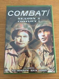Combat Season 4 Conflict 1 - 4 DVD Region 1 - Vic Morrow Rick Jason - VGC RARE