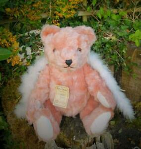 BEAUTIFUL VINTAGE HERMANN BEAR WITH PINK MOHAIR, LTD EDT 1980'S WITH TAGS