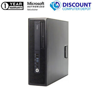 HP Desktop Computer Intel Core i3 4th gen ProDesk 600 G1 8GB 500GB HD Windows 10