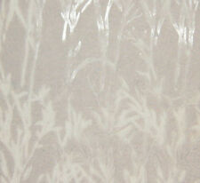 "Burnout Silk VELVET Fabric WHITE BAMBOO 9""x22"" remnant"