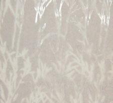 "Burnout Silk VELVET Fabric WHITE BAMBOO fat 1/4 18""x22"" remnant"