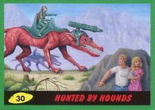 Mars Attacks The Revenge Green Base Card #30 Hunted by Hounds