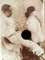 Indian Nude Couple in Action - Vintage Albumen Photograph - 1870-1880
