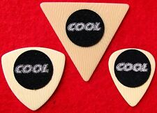 Ivory Celluloid Guitar Picks - Cool Series - Super Slip Resistant Rubber Grip