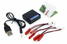 Tenergy T453 6-Port LiPo Battery Charger for 3.7V 1S Lithium Ion, Lithium RC