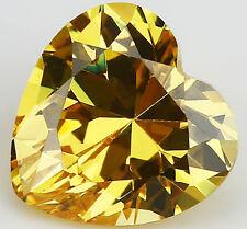 6X6MM 1.29CT AAAAA Yellow Zircon Gem Heart Faceted Cut VVS Loose Gemstone