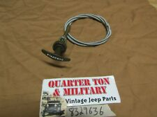 Jeep Willys M38 M38A1 NOS T-handle Throttle cable very nice G740 G758