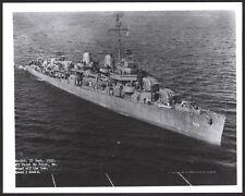Fletcher Class Destroyer USS Haggard (DD-555) at Sea. 10 inch x 8 inch Photo