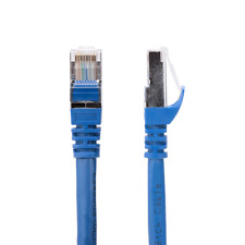 25ft Cat6a SSTP 26AWG 10GB Molded Network Ethernet  Patch Cable, Blue