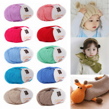 50g/Roll Soft Hand Knitting Yarn Baby Sweater Hat Crochet Yarn DIY Craft Thread