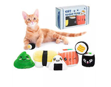 New listing (6 Pack) Sushi Cat Toys with Catnip Sushi Roll Pillow Kitten Cute
