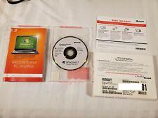 Windows 7 Home Premium SP1 64bit OEM System Builder DVD 1 Pack Pre Owned