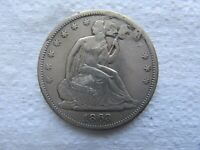 1863-S Seated Liberty Half Dollar Tough Civil War Date XF Details  ( damaged )