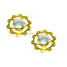 2PC Circus Monkey Wheel for Rear Derailleur Pulley 10T ROAD MTB BIKE - GOLD
