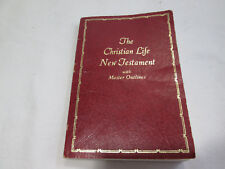 The Christian Life New Testament with Master Outlines King James Version, Red