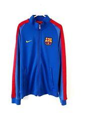 Barcelona Track Top Jacket. Small Adults. Nike. Blue Long Sleeves Football Coat