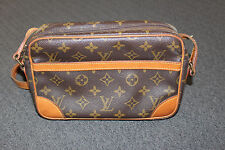 Genuine LOUIS VUITTON monogram Leather Trocadero Crossbody Bag