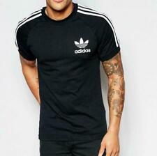 Original  Adidas Men's Trefoil California Crew Neck Retro Tee Black S-XXL AJ8834