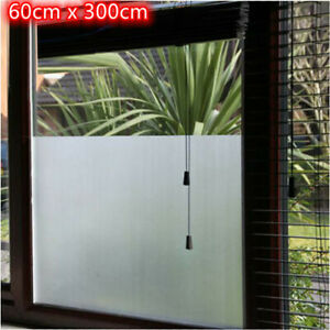 60x300cm Privacy White Frosted Window Door Film Frost Etched Glass Sticker Cover