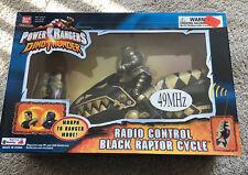 Power Rangers Dino Thunder R/C Remote Control Black Raptor Cycle Bandai 2003