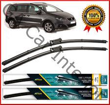 "SEAT Alhambra 2010+ Delantero Par Plano Aero Wiper Blades 28"" conjunto de 16"" (D1) 2012 2013"